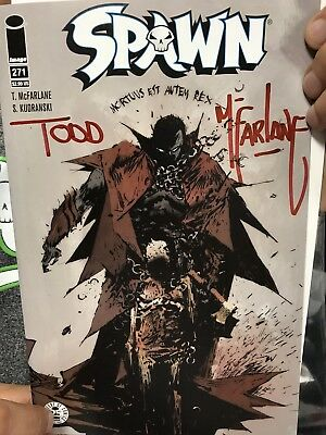 Todd McFarlane SIGNED/AUTOGRAPHED Spawn #271 (NM)