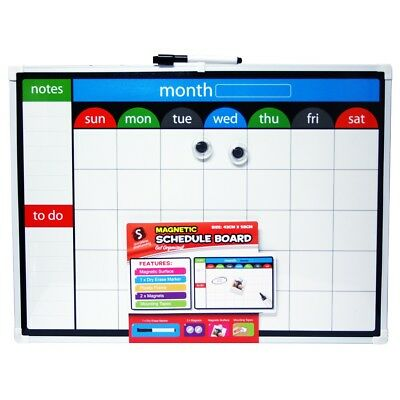 Magnetic Schedule Board Scribbles Stationery