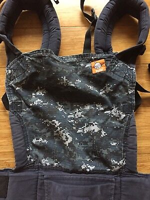 Tula Baby Carrier With Infant Insert navy army print.