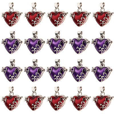 20pcs Lot Cute Heart Enamel Cremation Keepsake Urn Pendant for Necklace DIY