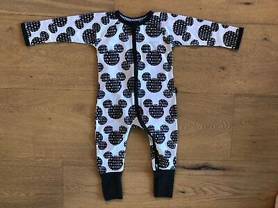 Bonds Baby Disney Mickey Mouse Limited Edition Print Zip Wondersuit Size 1 NWT