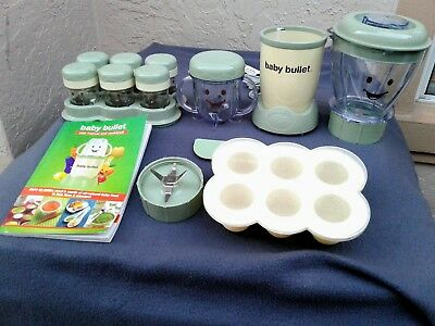 Magic Baby Bullet Food Making System - Blender & Containers Lot