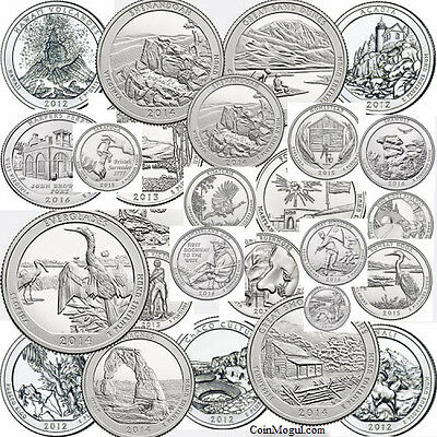 1999 - 2017 Complete Set of State Quarters, Territories, Parks P D 1999 - 2017