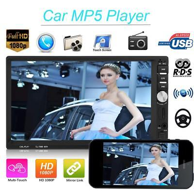 7'' 2DIN Touch Car In-Dash Bluetooth Stereo Radio MP5 MP3 Player FM USB/AUX/TF