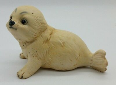 UCCTI Baby Seal Pup Porcelain Wild Animal Figurine Home Decoration Made In Japan