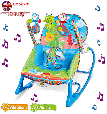 Baby Bouncer Chair Seat Infant ToddlerSoft Swing Vibration Rocker Cozy  Boy Girl