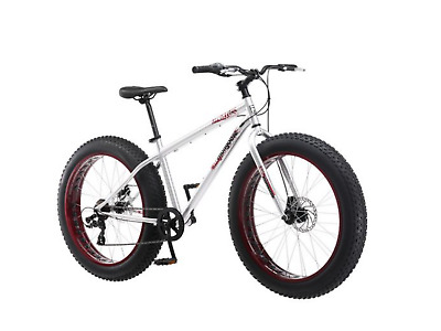 Fat Tire Mountain Bike 26 Mongoose Hitch Mens All Terrain Bicycle 7 Sd Red