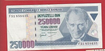 Turkey 250000 Lirasi