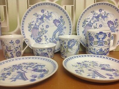Vintage FIGGJO LOTTE Plates and Cups