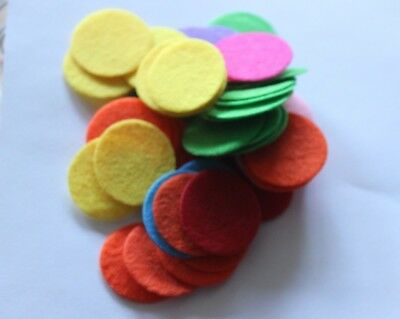 20 X 30 Mm / 3 Cm's  Coloured Of Your Choice Felt Circles Free Post In Oz