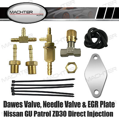 Direct Injection ONLY Dawes Valve Needle Valve EGR Plate For Patrol ZD30 Aussie