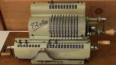 Antique Thales Model « A » Pinwheel Calculator Adding Machine 1920's