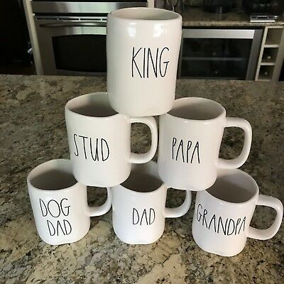 RAE DUNN Dad/Husband/Father Mugs *CHOOSE YOUR FAVORITE PHRASE * Brand New