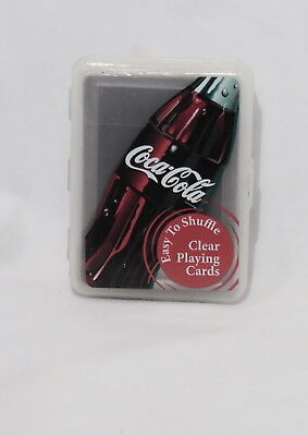 Coca Cola Coke Playing Cards With Plastic Case 1 Pack Mint Sealed Free Ship D145