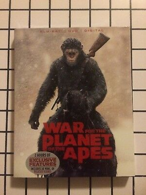 War for the Planet of the Apes (Blu-ray/DVD, 2017, 2-Disc Set, Includes Digital