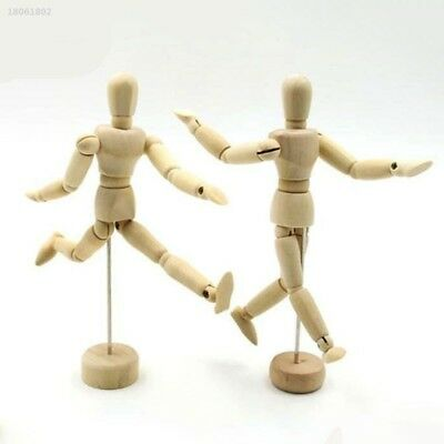 0DD8761 Wooden Manikin Mannequin 12Joint Doll Polish Model Articulated Display