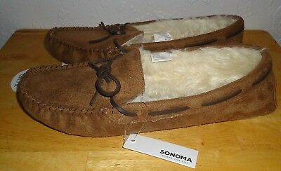 1057a59279b10 Women's SONOMA Goods For Life Moccasin Slippers Chestnut Size XL (11-12) NWT