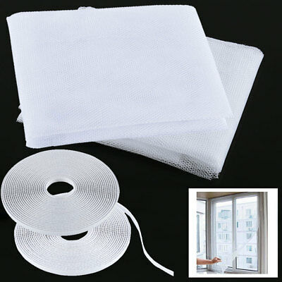 2Pcs Window Mesh Door Curtain Snap Net Guard Mosquito Fly Bug Insect Screen CA