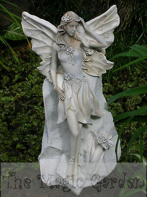 Stunning large fairy cement plaster garden ornament craft latex molds moulds