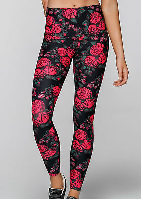 NEW Womens Lorna Jane Activewear   Gothic Rose F/L Tight