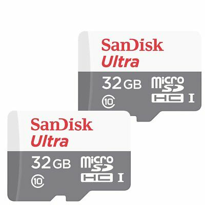 2x 32GB SanDisk Ultra 48MB/s Class 10 UHS-I Micro SD HC Memory Card SDSQUNB-032G