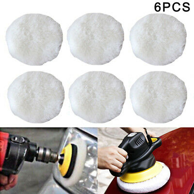 6Pcs Polishing Bonnet Buffer Pads Soft Wool For 9 inch & 10 inch Car Polisher