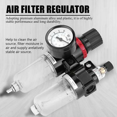 Pneumatic Air Filter Regulator Lubricator Water Trap Oil-water Separator G1/4 SS