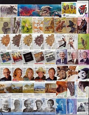Australia Collection of 60c Stamps 108 Different (2 pages) Finely Used - Bulk