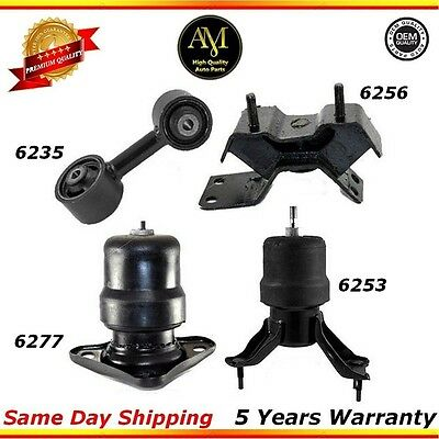 For 92-96 Toyota Camry 2.2L Front /& Rear Engine Motor Mount M222 6277 6253