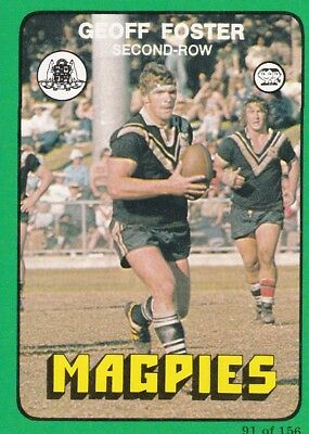c1978 Scanlens MAGPIES RUGBY LEAGUE FOOTBALL CARD Lot
