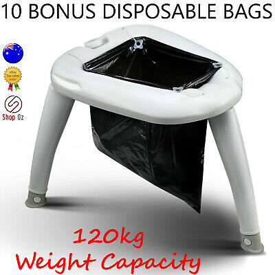 New PORTABLE OUTDOOR CAMPING TOILET Camp Camper Folding Seat Travel Porta Potty