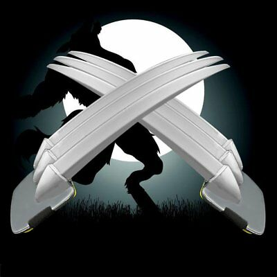 Adult/children 2PCs Wolverine Claws Hard plastic Cosplay The props Halloween UO