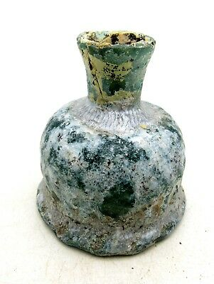 Ancient Roman Glass Perfume Flask  - L614