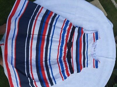 M&Co baby girl red white & blue cotton summer dress, one size ? 18-12 months