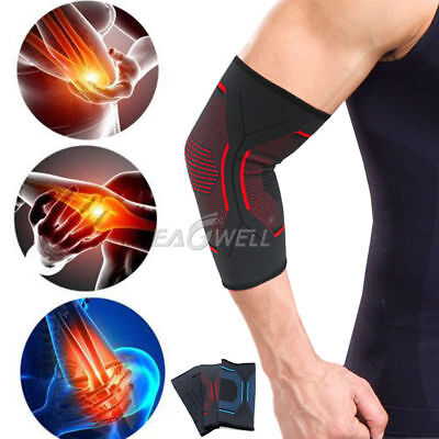 2PC Knitted Elbow Tendonitis Brace Arm Support Compression Sleeve Tennis Golfers