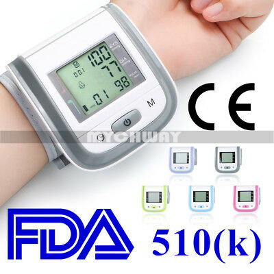 High Blood Pressure Automatic Digital Wrist LCD Monitor Heart Rate Detector New