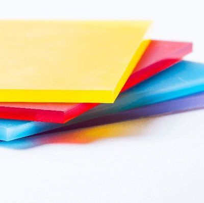 Coloured Acrylic Plastic Sheet SAMPLES for Splashbacks/Tabletops/Design Features