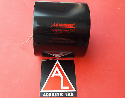 MUNDORF MCAP SUPREME EVO OIL 47µf 600V High End Öl Oil capacitor audio crossover