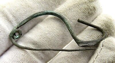 Ancient Celtic Iron Age Bronze La Tene Brooch / Fibula - E95