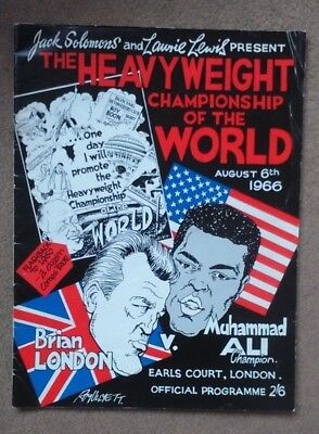 Brian London V Muhammad Ali 1966 Official On-Site Fight Programme