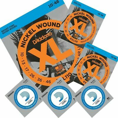 3 x D'Addario EXL110  Electric Guitar Strings 10 - 46  with 3 extra E strings