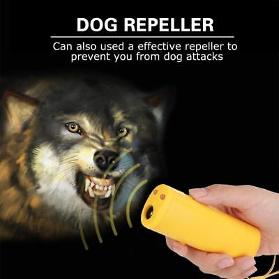 Ultrasonic Dog Chaser Stop Aggressive Animal Attacks Repeller Control Bark Train