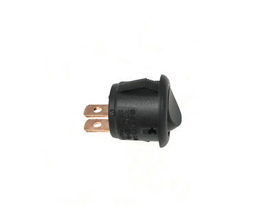 Mini round rocker switch BLACK for vw camper 15mm hole