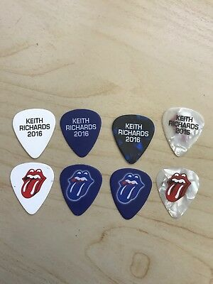 Rolling Stones 2016 Keith Richards Guitar Picks - Set Of 3 Different