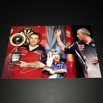 SALE PHIL TAYLOR THE POWER DARTS HAND SIGNED PHOTO AUTHENTIC GENUINE + COA 12x8