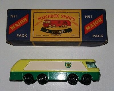 "MATCHBOX ""ORIGINAL"" BP AUTOTANKER MAJOR NO.1  In original box. Lesney/England"