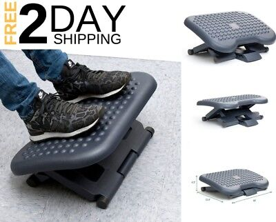 Foot Rest Under Desk Portable Ergonomic Adjustable Office Height Comfort Work