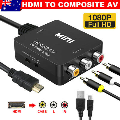 HDMI to RCA Composite AV CVBS 3RCA Video Cable Converter 1080p Downscaling New