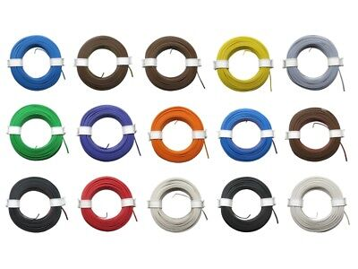 10m Ring Twin Stranded Wire 2x 0, 08mm ² Braid Two-Wire Doppellitze Many Colours