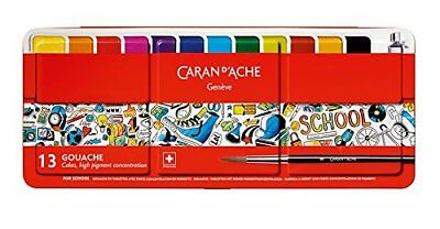 Caran d'Ache School Line Gouache Water Colours Palette 13 Colors